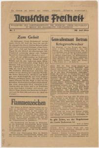 Deutsche Freiheit. Coll.MRN