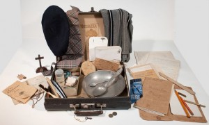 Mallette contenant les derniers effets personnels de Paul Keller détenu à la prison du Cherche-Midi. Coll. MRN. © S.Grinberg