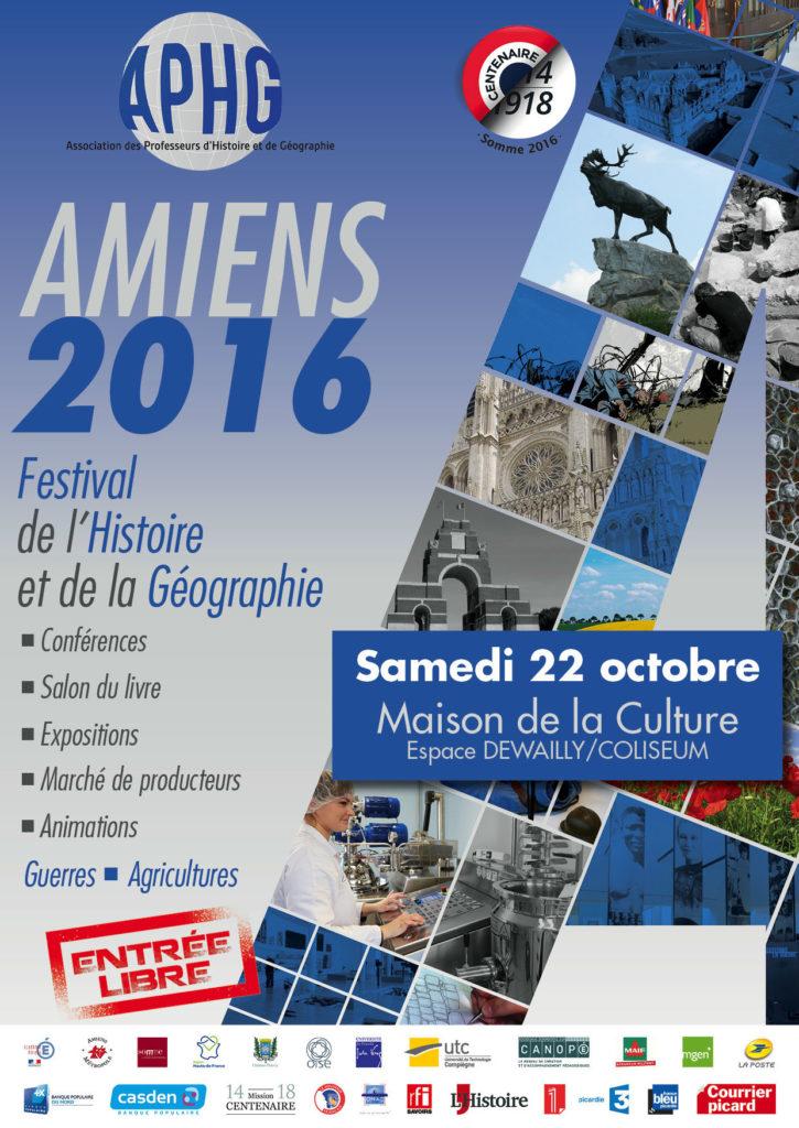 Journées nationales de l'histoire et de la géographie - Amiens 2016.