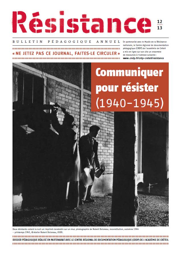 Résistance 12|13, couverture.