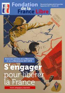 Couverture de la brochure nationale pour le concours national de la Résistance et de la Déportation