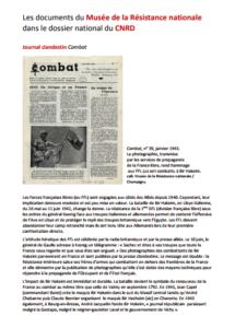 Les documents du Musée de la Résistance Nationale dans la brochure nationale