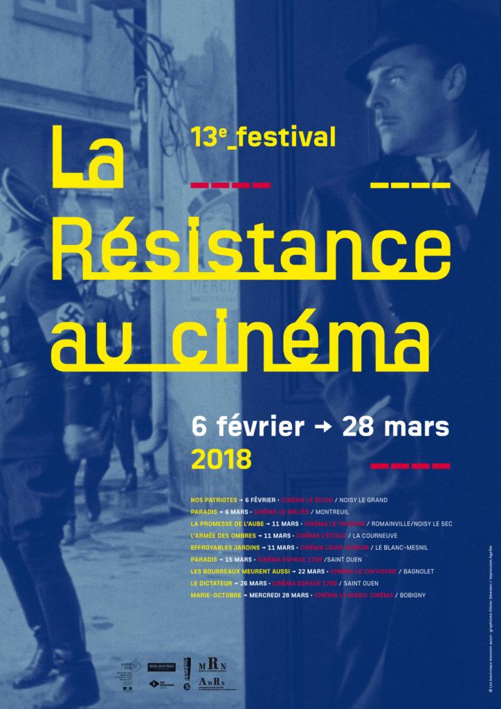 """Affiche du 13e Festival """"La Résistance au cinéma""""."""