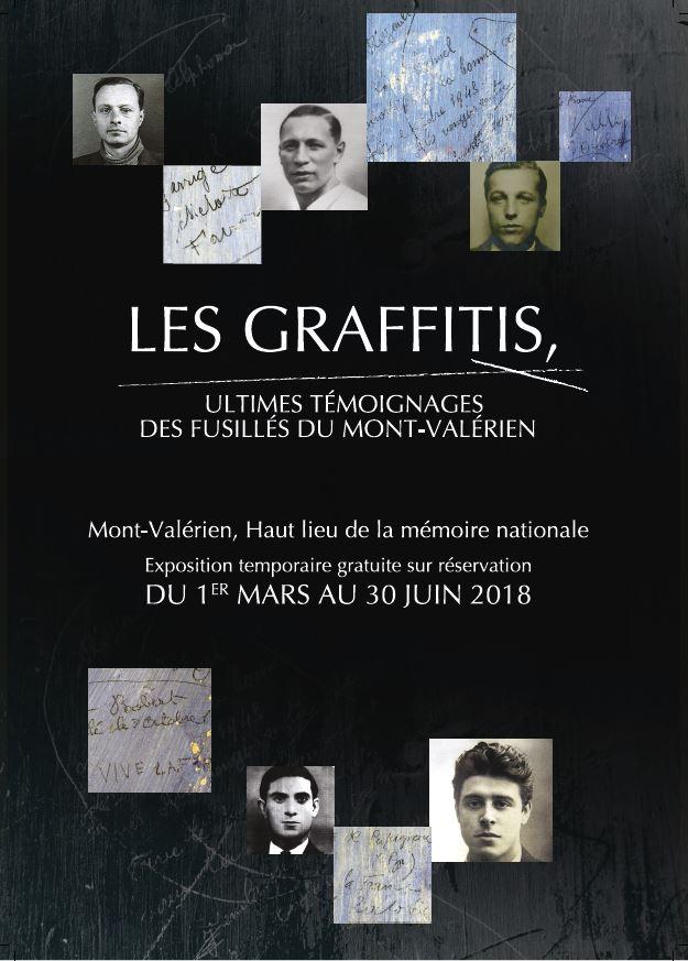 Flyer exposition Graffitis Mont-Valérien 2018
