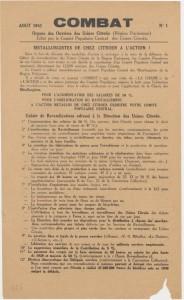 Combat organe des ouvriers Citroën. Coll.MRN