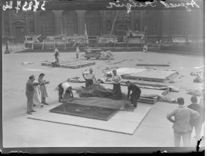 Évacuation des œuvres du Louvre, été 1939. Coll. MRN –  fonds dit du Matin.