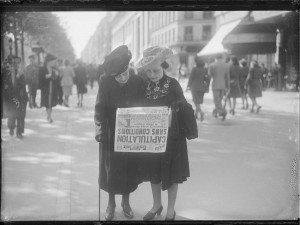 Jour de la Victoire, mai 1945. Coll. MRN –  fonds dit du Matin.