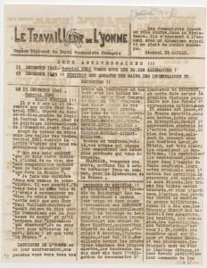 Le Travailleur de l'Yonne. Coll.MRN